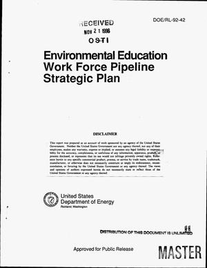 Primary view of object titled 'Environmental education work force pipeline strategic plan'.