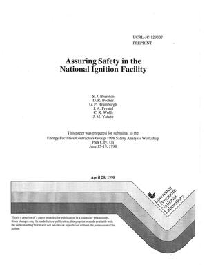 Primary view of object titled 'Assuring safety in the National Ignition Facility'.
