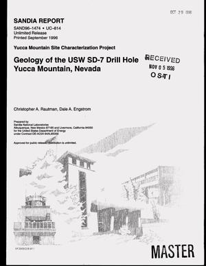 Primary view of object titled 'Geology of the USW SD-7 drill hole Yucca Mountain, Nevada'.