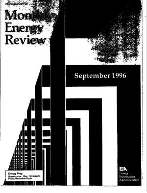 Primary view of object titled 'Monthly energy review: September 1996'.