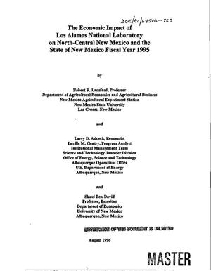 Primary view of object titled 'The economic impact of Los Alamos National Laboratory on North-Central New Mexico and the state of New Mexico. Fiscal Year 1995'.