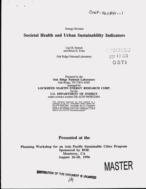 Primary view of object titled 'Societal health and urban sustainability indicators'.