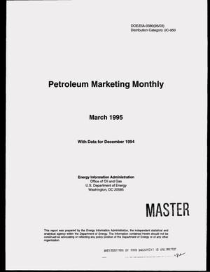 Primary view of object titled 'Petroleum marketing monthly, March 1995'.