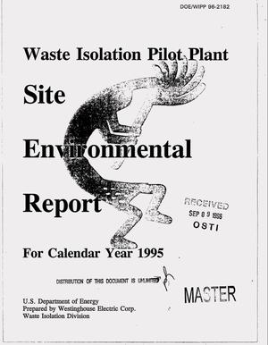 Primary view of object titled 'Waste Isolation Pilot Plant site environmental report, for calendar year 1995'.