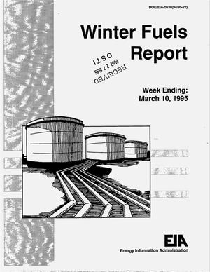 Primary view of object titled 'Winter fuels report, week ending March 10, 1995'.