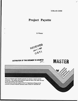 Primary view of object titled 'Project Payette'.