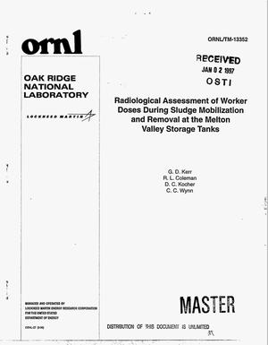 Primary view of object titled 'Radiological assessment of worker doses during sludge mobilization and removal at the Melton Valley storage tanks'.