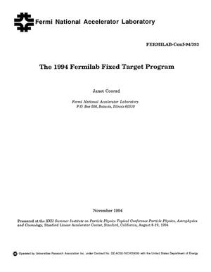 Primary view of object titled 'The 1994 Fermilab Fixed Target Program'.