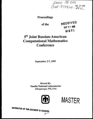 Primary view of object titled 'Proceedings of the 5. joint Russian-American computational mathematics conference'.