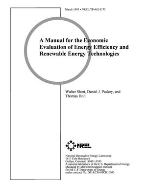Primary view of object titled 'A manual for the economic evaluation of energy efficiency and renewable energy technologies'.