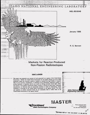 Primary view of object titled 'Markets for reactor-produced non-fission radioisotopes'.