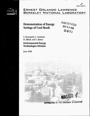 Primary view of object titled 'Demonstration of energy savings of cool roofs'.