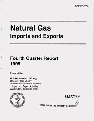 Primary view of object titled 'Natural gas imports and exports. Fourth quarter report, 1998'.
