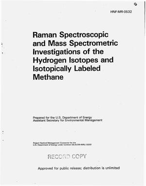 Primary view of object titled 'Raman spectroscopic and mass spectrometric investigations of the hydrogen isotopes and isotopically labelled methane'.