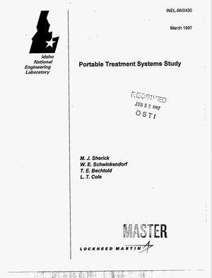 Primary view of object titled 'Portable treatment systems study'.
