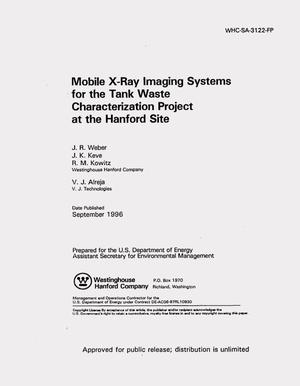 Primary view of object titled 'Mobile X-ray imaging systems for the tank waste characterization project at the Hanford site'.