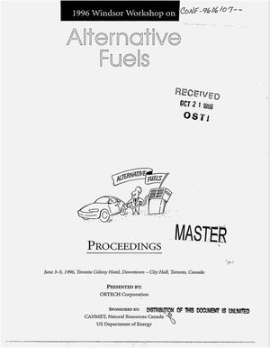 Primary view of object titled 'Proceedings of the 1996 Windsor workshop on alternative fuels'.