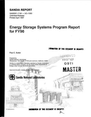 Primary view of object titled 'Energy storage systems program report for FY1996'.