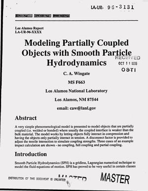 Primary view of object titled 'Modeling partially coupled objects with smooth particle hydrodynamics'.
