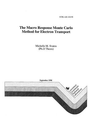 Primary view of object titled 'The macro response Monte Carlo method for electron transport'.