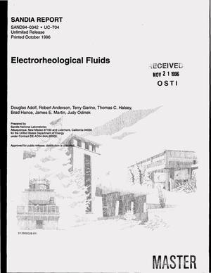 Primary view of object titled 'Electrorheological fluids'.