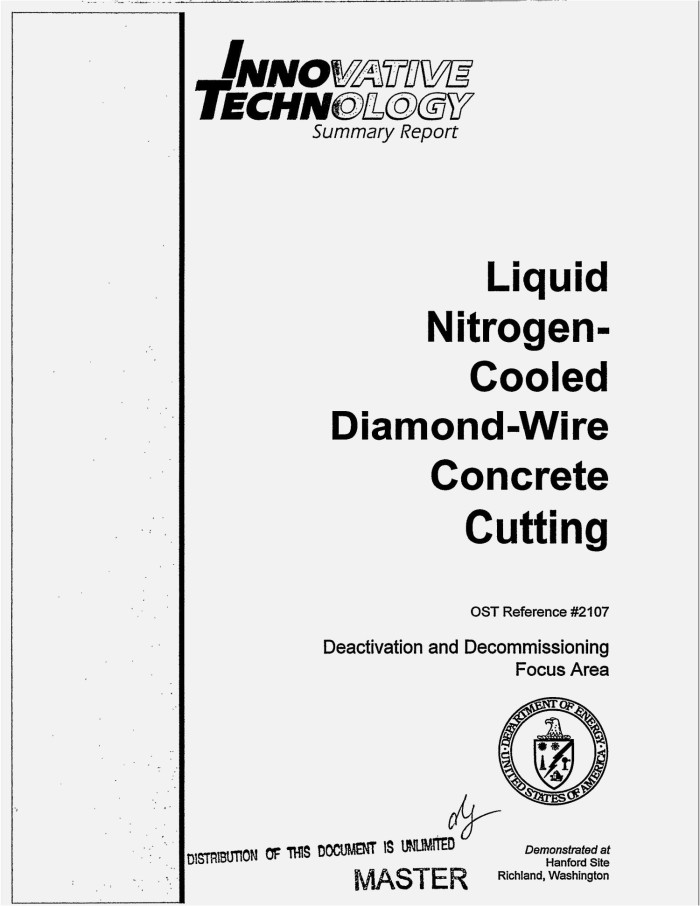 Liquid nitrogen-cooled diamond-wire concrete cutting. Innovative ...