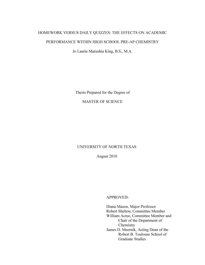 academic cover page