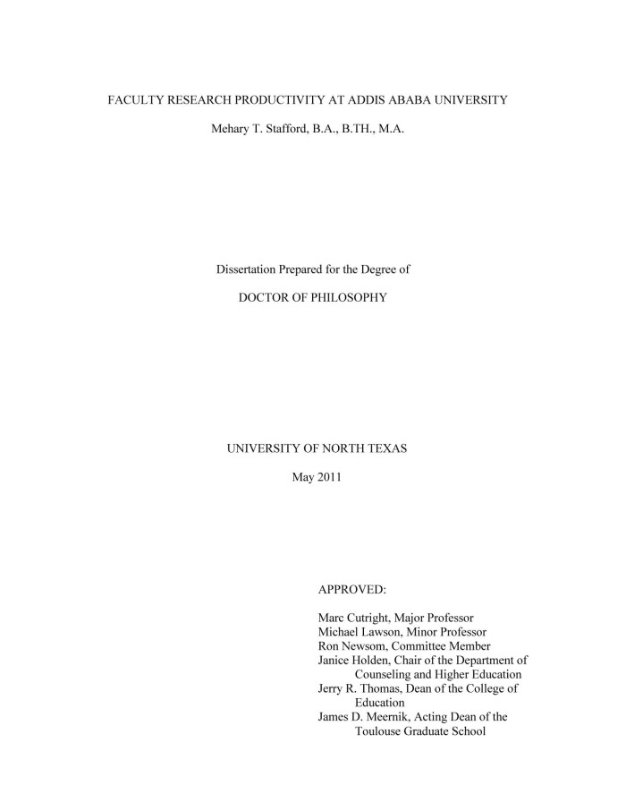 Addis ababa university thesis and dissertation