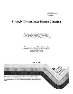 Primary view of object titled 'Strongly-driven laser plasma coupling'.