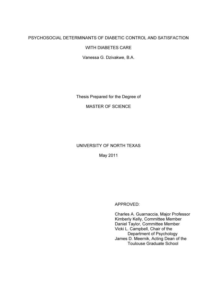 Master thesis diabetes