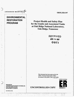 Primary view of object titled 'Project health and safety plan for the Gunite and Associated Tanks at Oak Ridge National Laboratory, Oak Ridge, Tennessee'.
