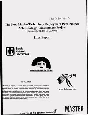 Primary view of object titled 'The New Mexico Technology Deployment Pilot Project: A technology reinvestment project. Final report'.