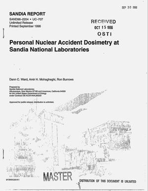 Primary view of object titled 'Personal nuclear accident dosimetry at Sandia National Laboratories'.
