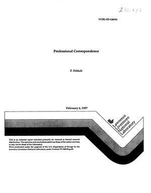 Primary view of object titled 'Professional correspondence'.