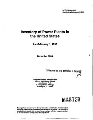 Primary view of object titled 'Inventory of power plants in the United States as of January 1, 1996'.