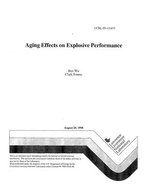 Primary view of object titled 'Aging effects on explosive performance'.