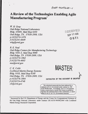 Primary view of object titled 'A review of the Technologies Enabling Agile Manufacturing program'.