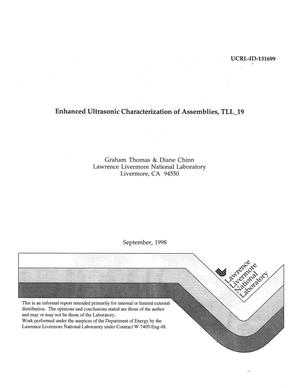 Primary view of object titled 'Enhanced ultrasonic characterization of assemblies, TLL_19'.