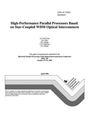 Primary view of object titled 'High-performance parallel processors based on star-coupled WDM optical interconnects'.