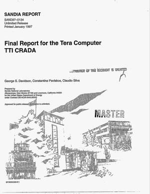 Primary view of object titled 'Final report for the Tera Computer TTI CRADA'.