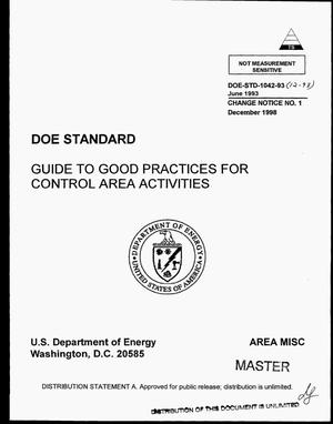 Primary view of object titled 'Guide to good practices for control area activities'.