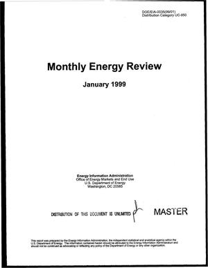 Primary view of object titled 'Monthly energy review, January 1999'.