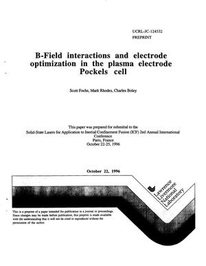 Primary view of object titled 'B-field interactions and electrode optimization in the plasma electrode Pockels cell'.