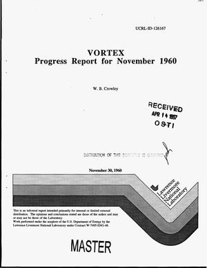 Primary view of object titled 'VORTEX: progress report for November 1960'.