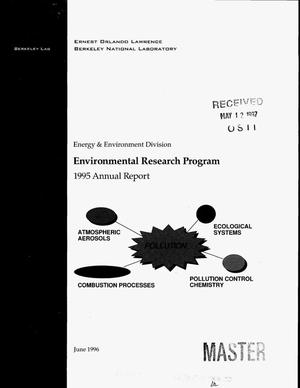 Primary view of object titled 'Environmental research program. 1995 Annual report'.