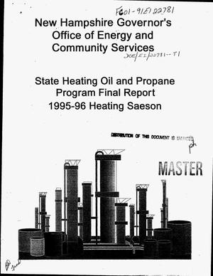 Primary view of object titled 'State heating oil and propane program: 1995-96 heating season. Final report'.
