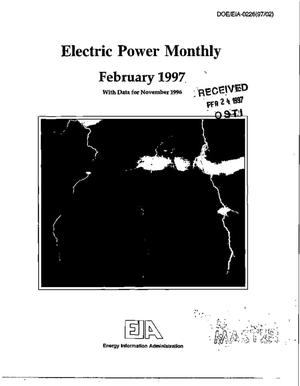 Primary view of object titled 'Electric power monthly with data for November 1996'.