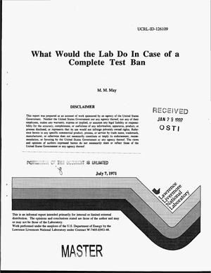 Primary view of object titled 'What would the Lab do in case of a complete text ban'.