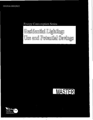 Primary view of object titled 'Residential lighting: Use and potential savings'.