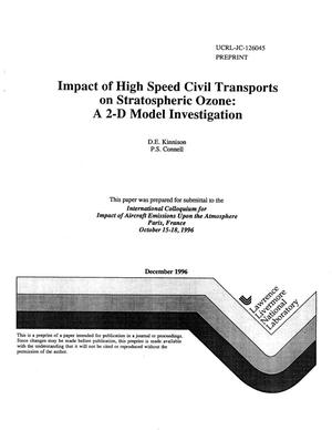 Primary view of object titled 'Impact of high speed civil transports on stratospheric ozone: A 2-D model investigation'.
